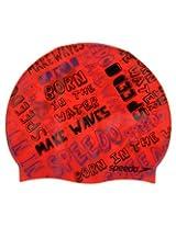 Speedo Junior Slogan Print Cap (Red)