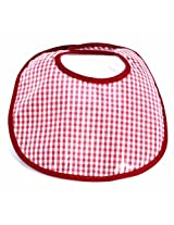 Infantissima Laminated Infant Bib, Gingham Maroon