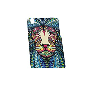 Aztec Animal Lion Designer Print Snap-On Hard Slim Back Flexible Bumper Case Cover For HTC Desire 816 / 816G