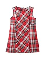 Box Pleated Red Check Dress Red Check 9Y