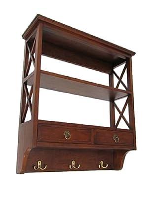 Charleston Display Rack, Brown