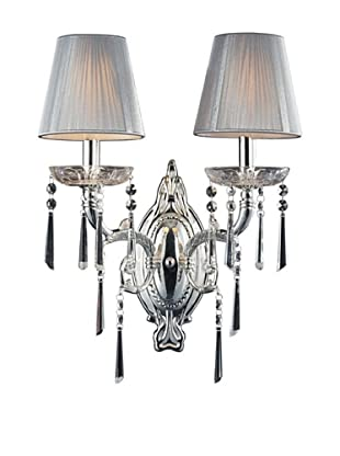 Artistic Lighting 2-Light Wall Sconce, Polished Silver