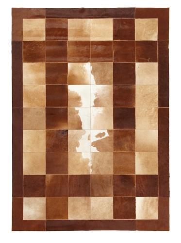 Hide Rug Multi Patterned Patchwork, 4' x 6'