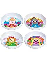 French Bull - BPA Free Kids Bowls - Melamine Kids Bowl Set - Kids Dinnerware - Princess, Set of 4