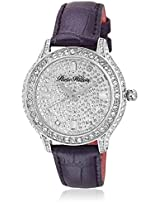 H Ph12988jspl/04 Purple/Silver Analog Watch Paris Hilton