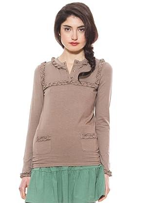 La Casita de Wendy Camiseta Volantitos (Marrón)