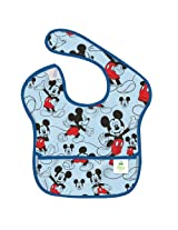 Bumkins Disney Baby Waterproof Super Bib, Mickey Classic, 6-24 Months