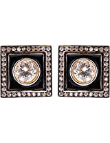 Ada Designer Jewellery Gold Silver Alloy Stud Earrings for Women (ER-8)