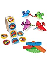 Superhero Bundle 24 Bracelets, 100 Stickers, And 24 Gliders