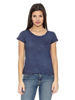 Springfield Camiseta Lavado Fuerte (Azul)