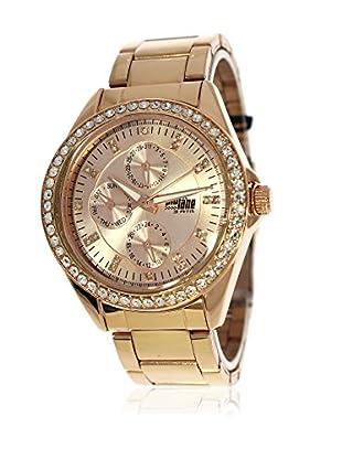Pit Lane Uhr mit Miyota Uhrwerk Pl-4006-1 rosé 41 mm