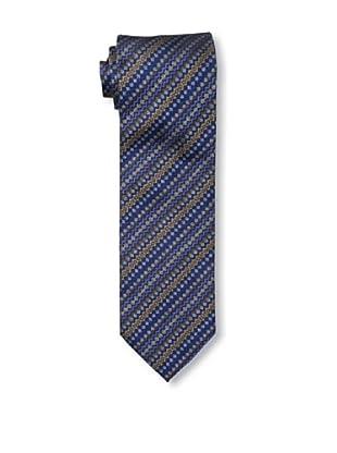 Missoni Men's Diamond Stripe Pattern Tie, Blue/Brown