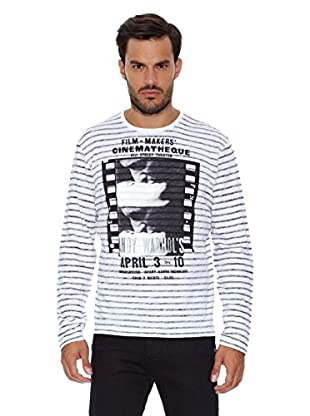 Pepe Jeans London Camiseta Manga Larga Cinematheque (Blanco)