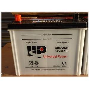 【クリックで詳細表示】48D26R(N50) 開放型バッテリー 12V50AH 自動車・船舶・交換用途などに [a254]