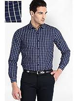 Check Navy Blue Formal Shirt Mark Taylor