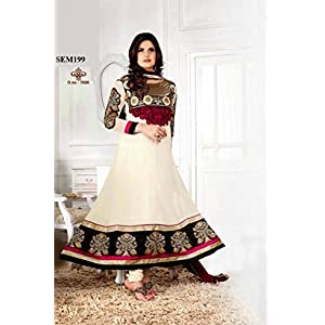 New Collection Buy Zarine Khan Designer White Anarkali Suit