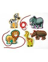 Eureka Lace and Learn Safari Animals Stickers