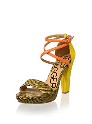 Kelsi Dagger Women's Mackenna Ankle-Strap Sandal (Luggage/Orange)