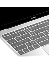 The New Macbook Keyboard Cover, GMYLE Transparent Silicone Keyboard Cover Skin Protector (US Layout) for The New Macbook 12 inch with Retina Display