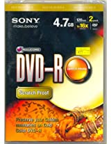 Sony DVD-R 4.7GB 120Min 1x 16x (2 Pack)