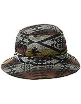 Pendleton Men's Jacquard Bucket Hat, Black Diamond River, Large