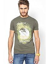 Olive Crew Neck T Shirt