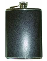 Happy Hour 10920 Stainless Steel Flask wrapped in Black Leather