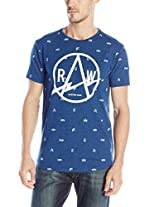 G-Star Raw Men's Avisar Shortsleeve Crew Neck Tee In Lightning Jisoe