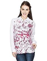 Amari West Womens Printed Shirt(White_XL_AWSH000105B2XL)