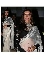 Namo House 112695 Deepika Padukone Saree - White