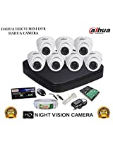 DAHUA HDCVI 8CH DH-HCVR4108C-S2 DVR + DAHUA HDCVI DH-HAC-HDW1000RP DOME CAMERA 7Pcs + 1 TB WD HDD + 3+1 COPPER CABLE + POWER SUPPLY (FULL COMBO)