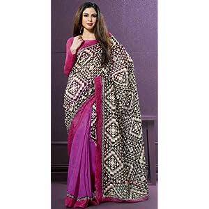 Bhaarat Bazaar Pink - Saree With Blouse