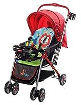 Sunbaby Royale Stripe Stroller (Red)