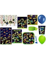 TMNT Party Supplies for 16 Guests This Ultimate Party Pack Includes Table Cover, Cups, Napkins, Plat