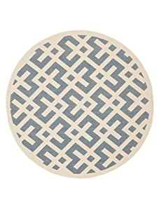 Indoor/Outdoor Graphic Pattern Rug (Blue/Bone)