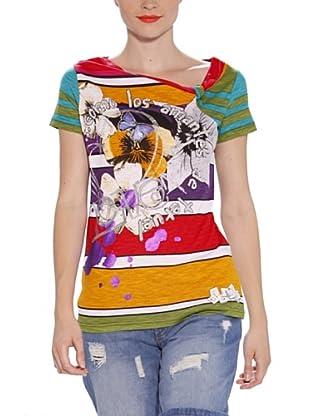 Desigual Camiseta Glades (Rojo / Multicolor)