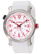 red line Men's RL-18003-02RD-WH Compressor World Time White Dial White Silicone Watch