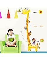 UberLyfe Giraffe Height Measurement Growth Chart Wall Sticker for Kids Room