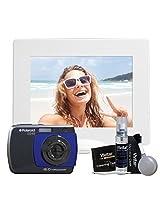 Polaroid Waterproof 16 Mp Digital Camera Kit Gift Set With Free Illuminated Photo Frame And Cleaning Kit