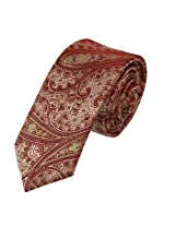 PS1126 Fitness Fashion Red Economics Narrow Silk Skinny Necktie Matching Gift Box Set Patterned Silk Slim Tie By Epoint