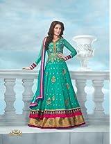 Glamorous Rama Green Georgette Salwar Kameez