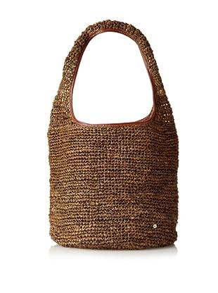 Florabella Women's Ciutadella Crochet Raffia Handbag (Bronze)
