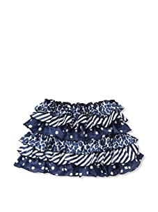 Miss Grant-Microbe Girl's Tiered Skirt (Blue)