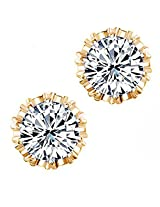Valentine Gift By Karatcart Gold Plated Crystal Earrings for Girls
