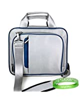 Apple MacBook Air MC234LL/A 13.3-Inch Sliver & Blue Laptop Carrying Case with Shoulder Strap & Organ...