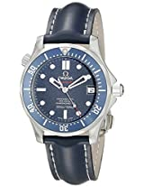 Omega Men's 29228091 Seamaster Analog Display Automatic Self Wind Blue Watch