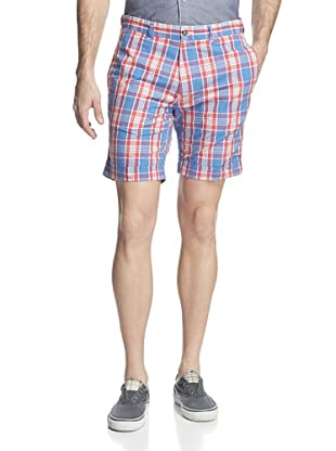 GANT Rugger Men's Check Shorts (Azur Blue)