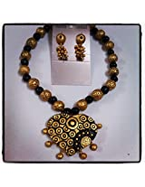 Nithish fashions gold and black lady divine grand terracotta jewellery exclusive collection