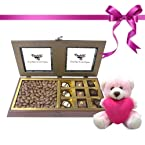 Tempting Chocolate Box with Milk Nutties with Combo - Chocholik Belgium Gifts