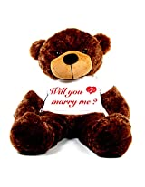 5 Feet Big Brown Teddy Bear wearing a Will You Marry Me Engagement Ring T-Shirt